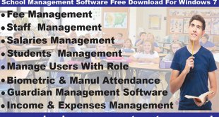 School management software free download for windows 7